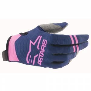 Alpinestars Radar Dark Blue Pink Fluo Motocross Gloves