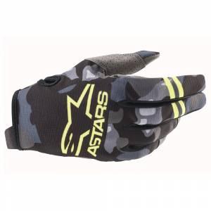 Alpinestars Kids Radar Grey Camo Yellow Fluo Motocross Gloves