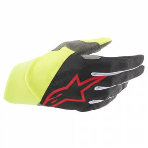 Alpinestars Dune Black Yellow Fluo Red Motocross Gloves