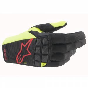 Alpinestars Racefend Black Yellow Red Fluo Motocross Gloves