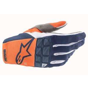Alpinestars Racefend Orange Dark Blue Motocross Gloves
