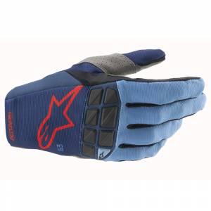 Alpinestars Racefend Dark Blue Black Red Motocross Gloves