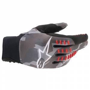 Alpinestars SMX-E Grey Camo Red Fluo Motocross Gloves