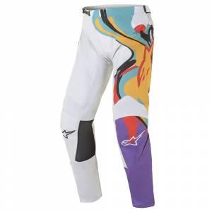 Alpinestars Racer Flagship White Multicolour Motocross Pants
