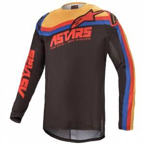 Alpinestars Techstar Venom Black Red Orange Motocross Jersey