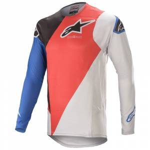 Alpinestars Supertech Blaze Bright Red Blue Motocross Jersey
