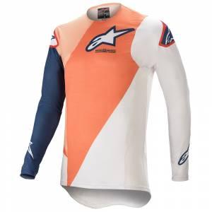 Alpinestars Supertech Blaze Orange Dark Blue Motocross Jersey