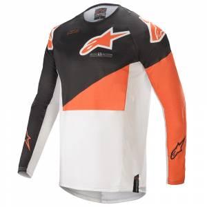 Alpinestars Techstar Factory Anthracite Orange White Motocross Jersey
