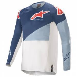 Alpinestars Techstar Factory Blue Powder Blue White Motocross Jersey