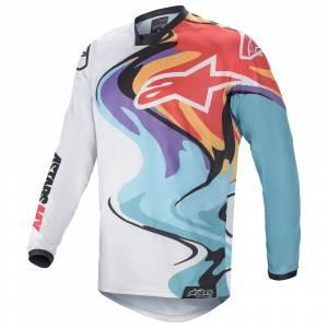 Alpinestars Racer Flagship White Multicolour Motocross Jersey