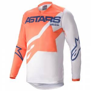 Alpinestars Racer Braap Orange Grey Blue Motocross Jersey