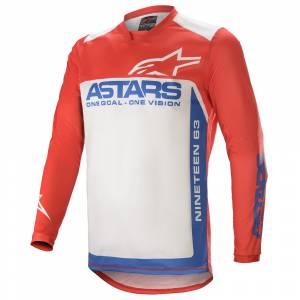 Alpinestars Racer Supermatic Red Blue White Motocross Jersey