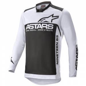 Alpinestars Racer Supermatic Light Grey Black Motocross Jersey