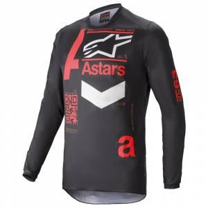 Alpinestars Fluid Chaser Black Red Motocross Jersey