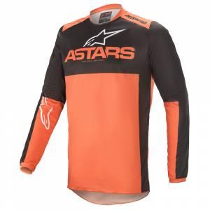 Alpinestars Fluid Tripple Black Orange Motocross Jersey