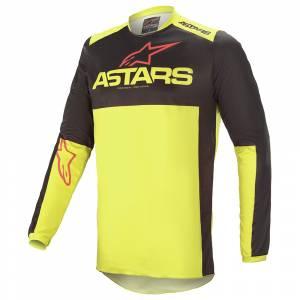 Alpinestars Fluid Tripple Black Yellow Red Motocross Jersey