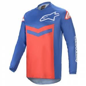 Alpinestars Fluid Speed Blue Bright Red Motocross Jersey
