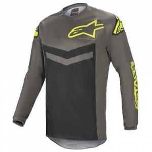 Alpinestars Fluid Speed Dark Grey Yellow Fluo Motocross Jersey