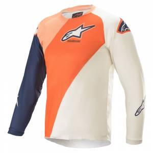 Alpinestars Kids Racer Blaze Orange Dark Blue Motocross Jersey