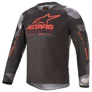 Alpinestars Kids Racer Tactical Grey Camo Red Motocross Jersey