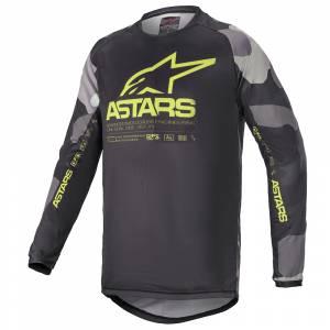 Alpinestars Kids Racer Tactical Grey Camo Yellow Motocross Jersey
