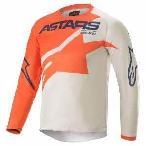 Alpinestars Kids Racer Braap Orange Grey Blue Motocross Jersey