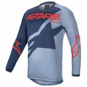 Alpinestars Kids Racer Braap Blue Blue Red Motocross Jersey