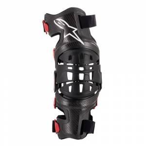 Alpinestars Bionic 10 Silver Black Carbon Knee Brace Right