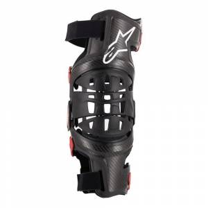 Alpinestars Bionic 10 Silver Black Carbon Knee Brace Left