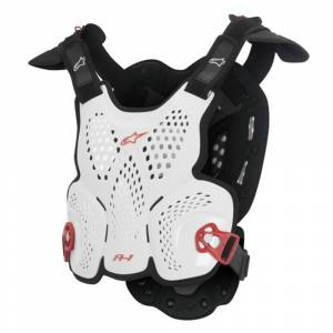 Alpinestars A-1 White Black Red Roost Guard