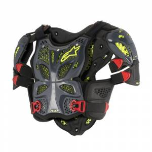 Alpinestars A10 Anthracite Black Red Full Chest Protector