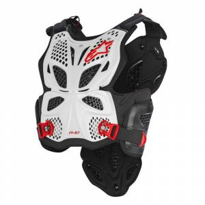 Alpinestars A-10 White Black Red Chest Protector