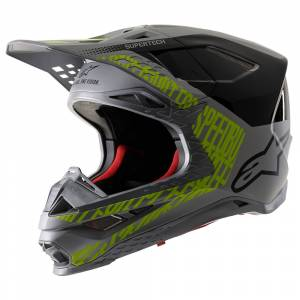 Alpinestars SM8 Triple MX Helmet Silver Black Yellow