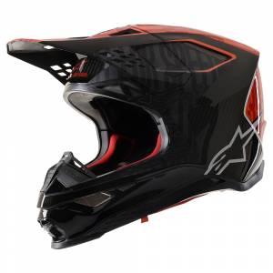 Alpinestars SM10 Alloy MX Helmet Black Orange Red