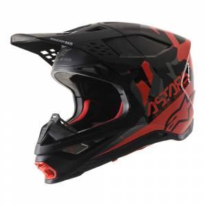 Alpinestars SM8 Echo MX Helmet Black Grey Red