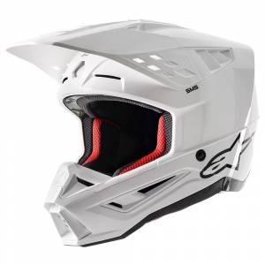 Alpinestars SM5 Solid White Motocross Helmet