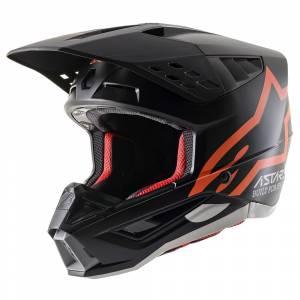 Alpinestars SM5 Compass Black Orange Fluo Motocross Helmet