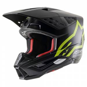 Alpinestars SM5 Compass Black Yellow Fluo Motocross Helmet