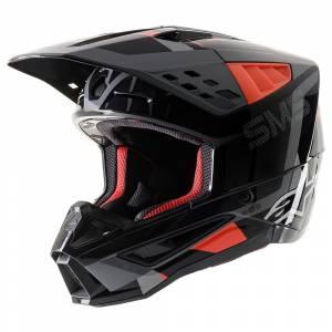 Alpinestars SM5 Rover Anthracite Red Camo Motocross Helmet