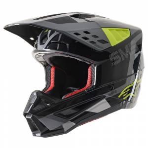 Alpinestars SM5 Rover Anthracite Yellow Camo Motocross Helmet