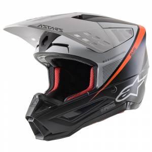 Alpinestars SM5 Rayon Black White Orange Motocross Helmet