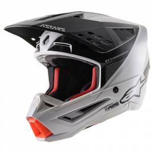 Alpinestars SM5 Rayon Grey Black Silver Motocross Helmet