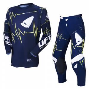 UFO Adrenaline Slim Blue Yellow Motocross Kit Combo