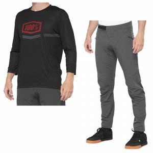 100% Airmatic Black Red Motocross Kit Combo