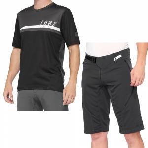 100% Airmatic Black Charcoal Motocross Kit Combo