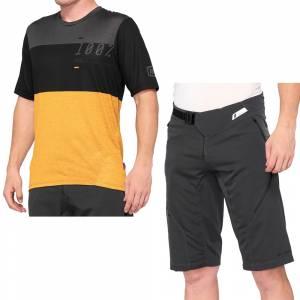 100% Airmatic Black Mustard Motocross Kit Combo