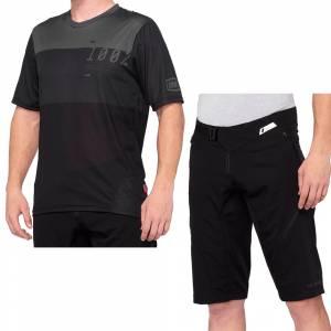 100% Airmatic Charcoal Black Motocross Kit Combo