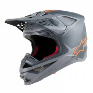 Alpinestars Supertech SM10 Meta Anthractite Grey Orange Motocross Helmet