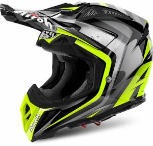 Airoh Aviator 2.2 Warning Yellow Motocross Helmet