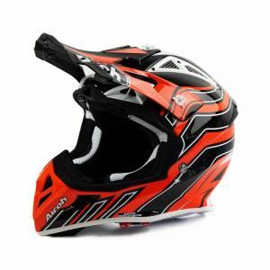 Airoh Aviator Ace Art Orange Motocross Helmet